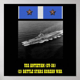 AFFICHE D USS ANTIETAM CV-36
