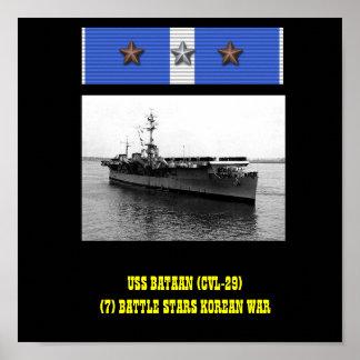 AFFICHE D USS BATAAN CVL-29