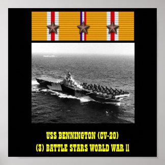 AFFICHE D USS BENNINGTON CV-20