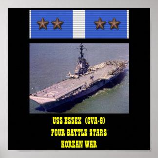 AFFICHE D USS ESSEX CVA-9