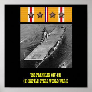 AFFICHE D USS FRANKLIN CV-13