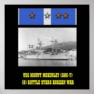 AFFICHE D USS LE MONT MCKINLEY AGC-7