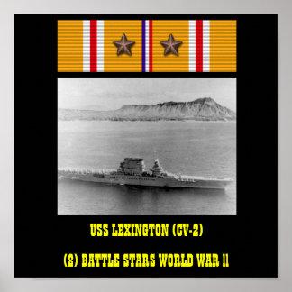 AFFICHE D USS LEXINGTON CV-2