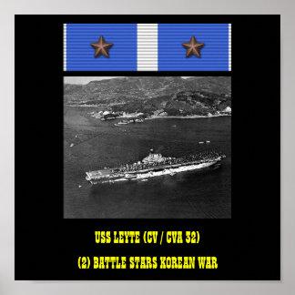 AFFICHE D USS LEYTE CV CVA 32