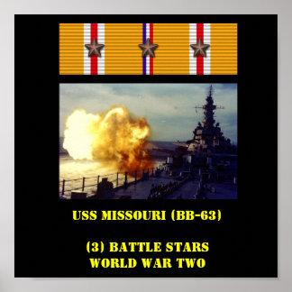 AFFICHE D USS MISSOURI BB-63
