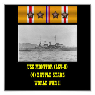 AFFICHE D USS MONITOR LSV-5