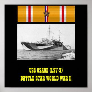 AFFICHE D USS OSAGE LSV-3