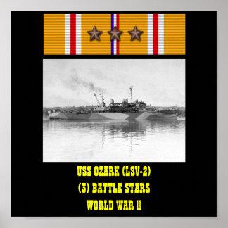 AFFICHE D USS OZARK LSV-2
