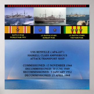 AFFICHE D USS RENVILLE APA-227