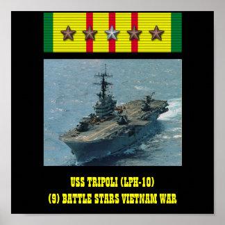 AFFICHE D USS TRIPOLI LPH-10