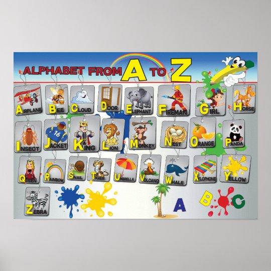 Affiche d'alphabet de grammaire anglaise poster