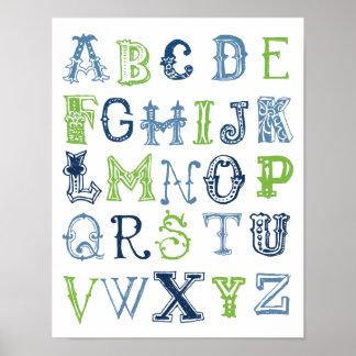 Affiche d'alphabet posters