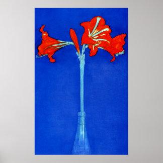 Affiche d'amaryllis de Mondrian Posters