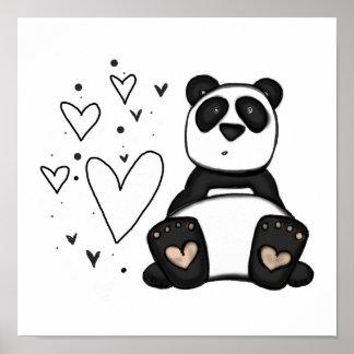 Affiche d'amour du panda Vol25