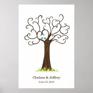Affiche d'arbre d'empreinte digitale (Heartastic B