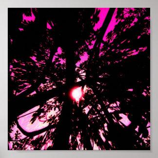 affiche d'arbres d'imaginaire