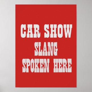 Affiche d'argot de salon automobile poster