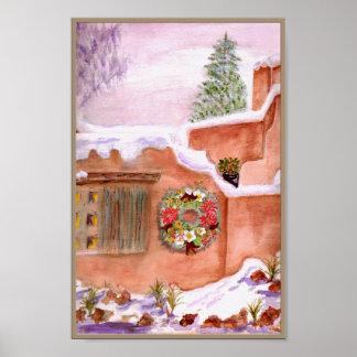 Affiche d'art d'Adobe de saison d'hiver Poster