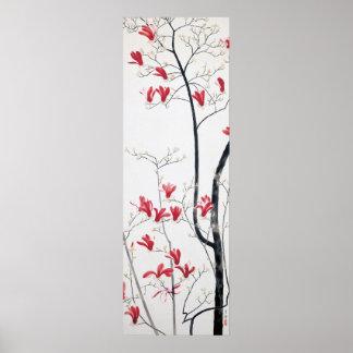 Affiche d'art d'arbre de magnolia posters