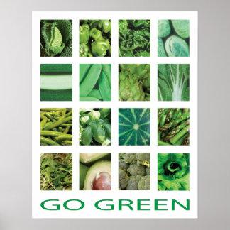 Affiche d'art de cuisine de légumes de devenez poster