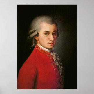 Affiche d'art de Wolfgang Amadeus Mozart