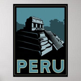 affiche d'art déco de l'Amérique du Sud d'Inca du
