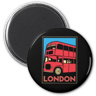 affiche d'art déco de Londres Westminster Angleter Magnet Rond 8 Cm