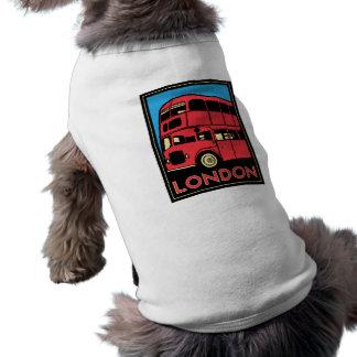 affiche d'art déco de Londres Westminster Angleter T-shirt Pour Toutou