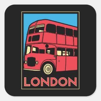 affiche d'art déco de Londres Westminster Sticker Carré