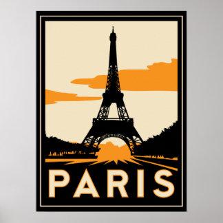 affiche d'art déco de Paris rétro