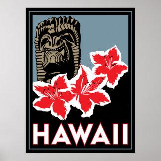 affiche d'art déco d'Hawaï Etats-Unis Etats-Unis r
