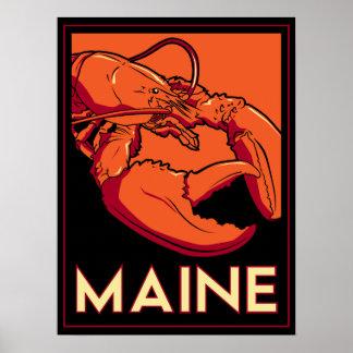 affiche d'art déco du Maine Etats-Unis Etats-Unis