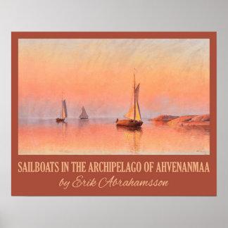 Affiche d'art des voiliers d'Abrahamsson