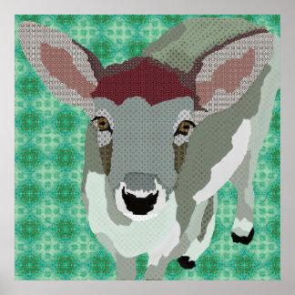 Affiche d'art du faon du gris