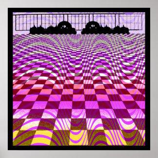 Affiche d'art op de MOS Eisley Fuschia Poster