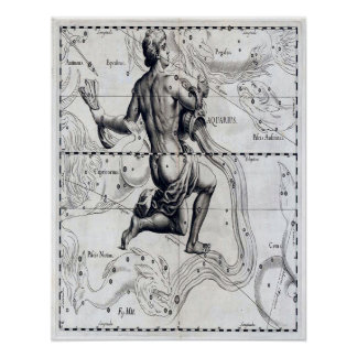 Affiche d'astrologie de Verseau Poster