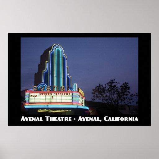 Affiche d'Avenal Theatre11x17