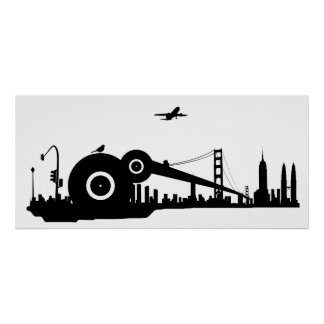 Affiche d'avion de ville de moineau - colossale posters
