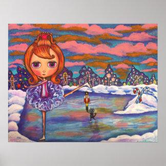 Affiche de ballet de glace de casse-noix