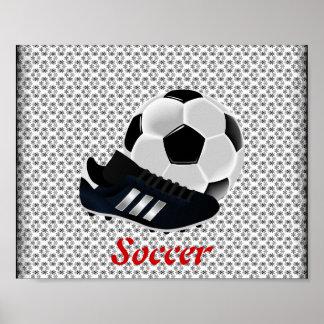 Affiche de ballon de football et de crampon