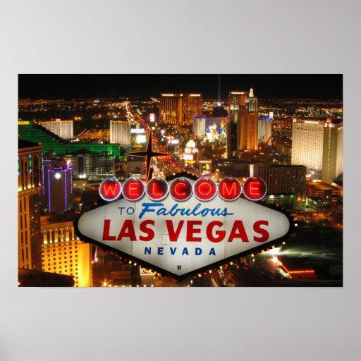 Affiche de bande de Las Vegas