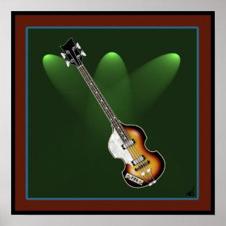 Affiche de basse de violon