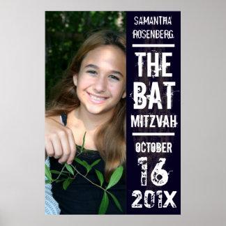 Affiche de bat mitzvah de groupe de rock