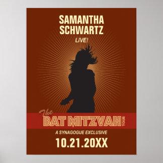 Affiche de bat mitzvah de vedette du rock