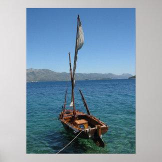 Affiche de bateau à voile