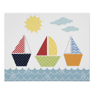 Affiche de bateaux à voile pour des enfants