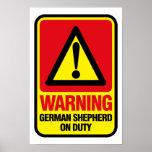 Affiche de berger allemand