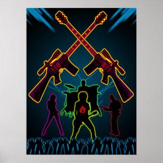 Affiche de Blacklight de guitare d'assaut