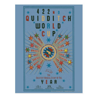 Affiche de bleu de coupe du monde de Quidditch Carte Postale