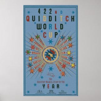 Affiche de bleu de coupe du monde de QUIDDITCH™ Poster